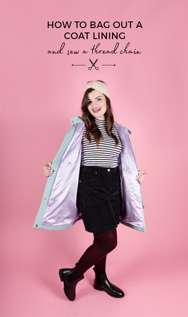 How to bag out a coat lining - Tilly and the Buttons