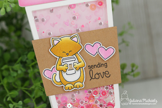 Coffee Cup Shaker Card by Juliana Michaels featuring Newton's Nook Designs Sending Hugs Stamp Set