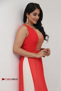 Actress Model Regina Candra Latest Pos in Beautiful Red Dress  0015.jpg