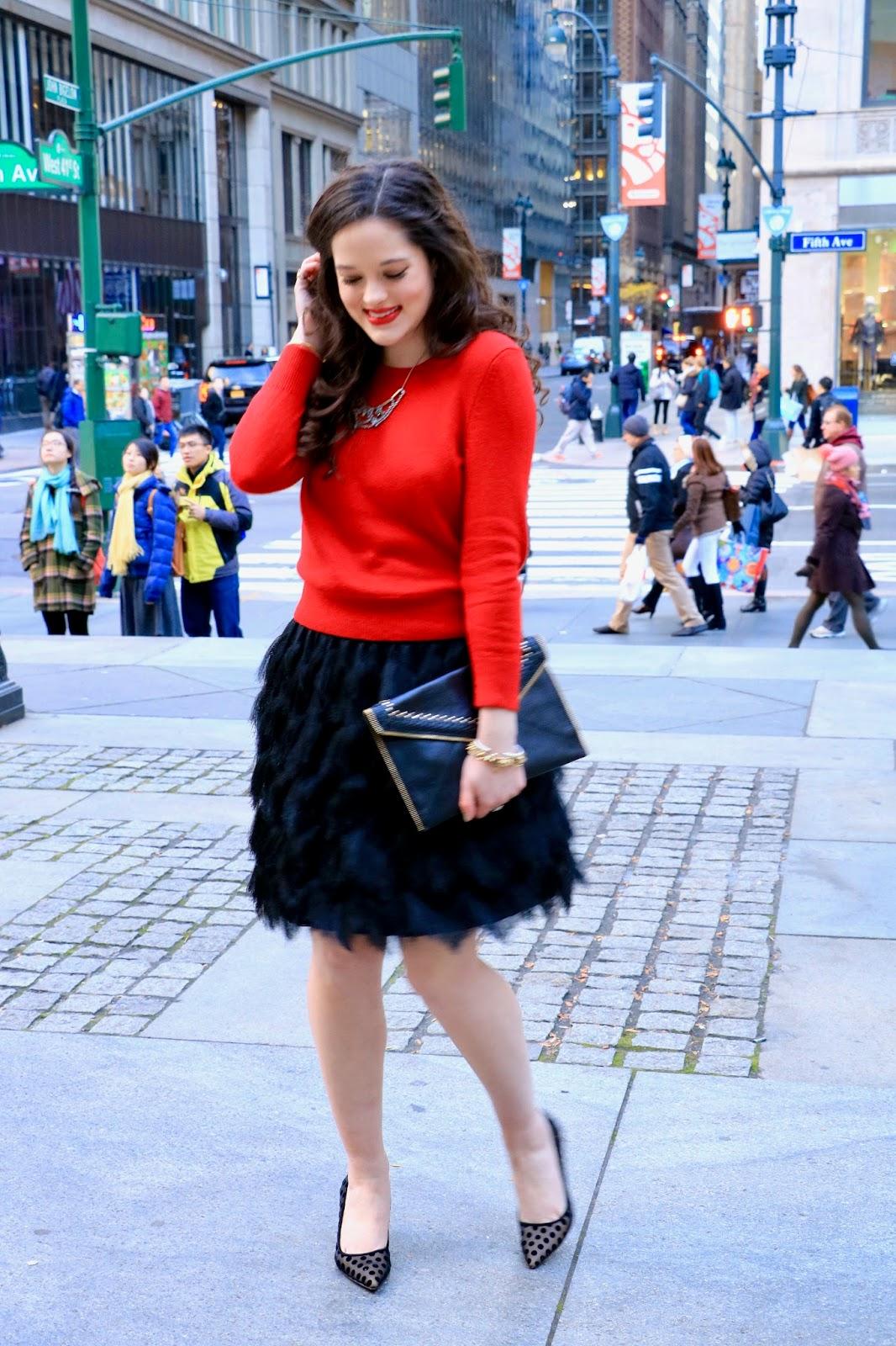 nyc christmas fashion pics