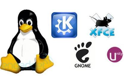 Jenis-jenis Desktop Environment (DE) pada Linux.
