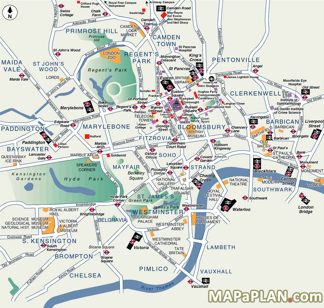 High Resolution London Tourist Map.Loner To London Map A Plan
