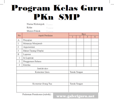 Program Kelas Guru PKn SMP Berkarakter 2018