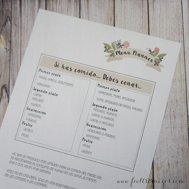 menu planner consejos