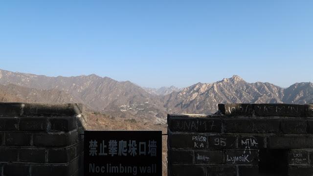 tindakan merusak di tembok china