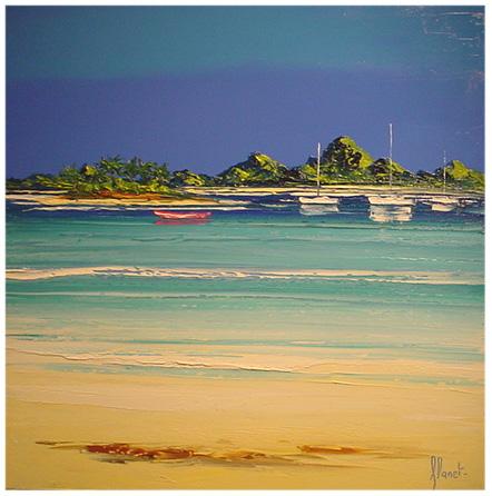 Represa - Frédéric Flanet e suas belas pinturas com paisagem de praias