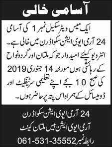 Mess Waiter Jobs in Multan Cantt 11 Jan 2019 newpakjobs