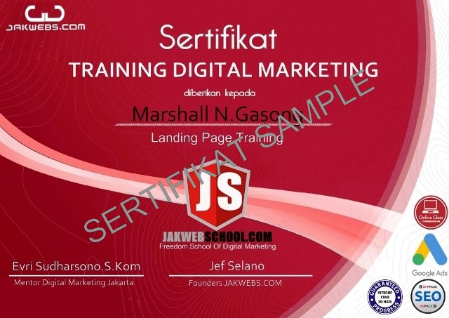 contoh sertifikat digital marketing jakwebshcoo, sertifikasi digital marketing, kursus digital marketing sertifikat