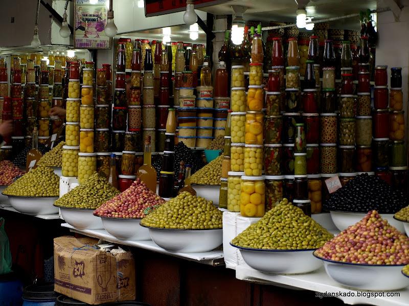 Marrakesz - Sklep z oliwkami