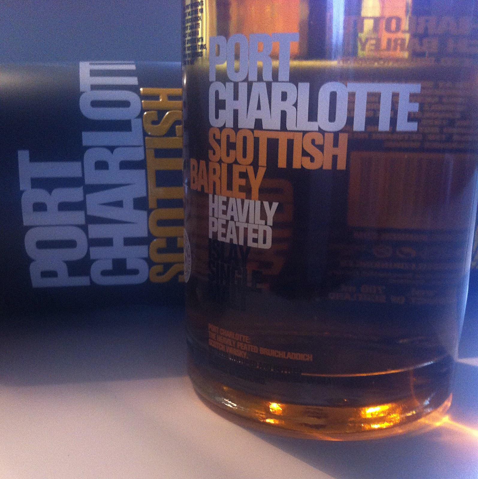 Son of winston churchill whiskey blog tasting - Bruichladdich port charlotte heavily peated ...