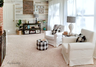 A light, bright and airy sunroom with coastal wood walls diybeautify.com