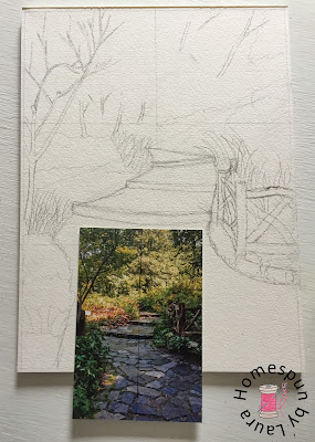 homespun by laura paint my vacation sketch shakespeare garden central park new york city nyc