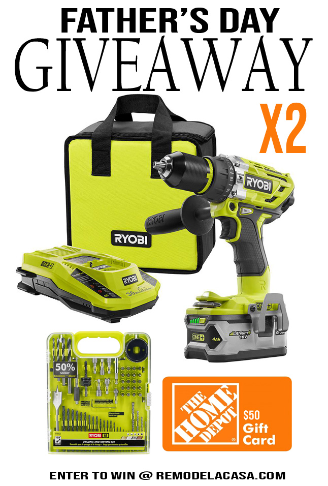 Ryobi tools and home depot gift card giveaway
