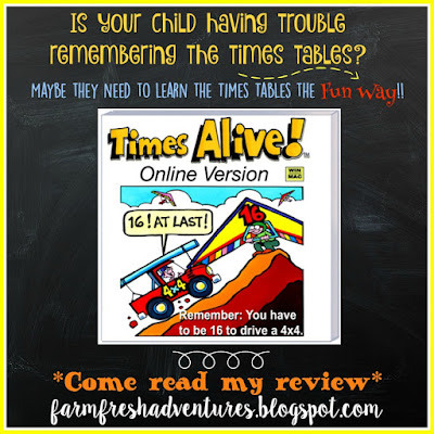 Times Alive: Learning Times Tables the Fun Way ~ Product Review
