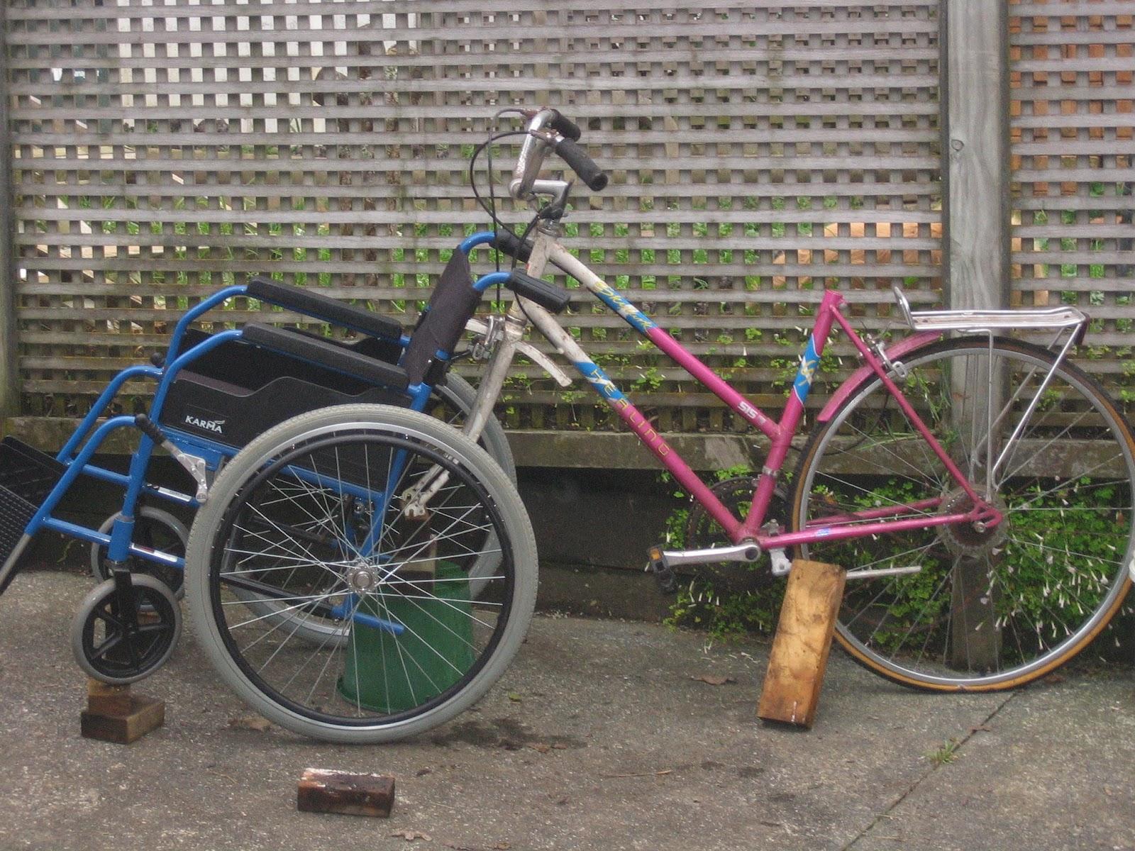 the bike chair reclining shower thescarletmanuka wheelchair build notes