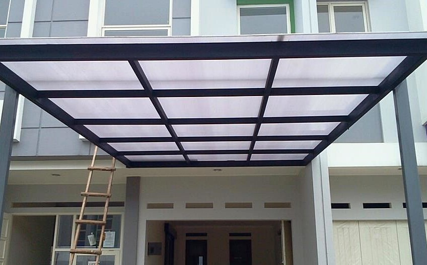 kanopi baja ringan atap kaca 48 desain modern pilihan tepat untuk rumah minimalis