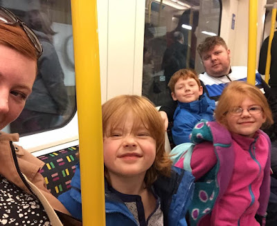 A family day trip to London with Virgin Trains East Coast - family on tube