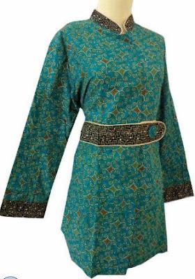 desain baju batik kerja wanita