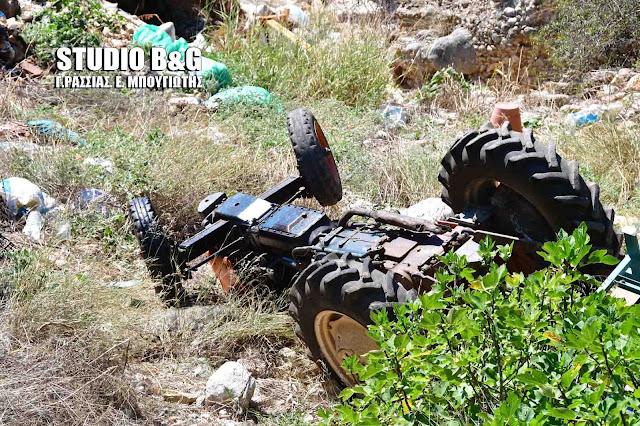 85χρονος στην Αργολίδα έχασε τη ζωή του από ανατροπή τρακτέρ