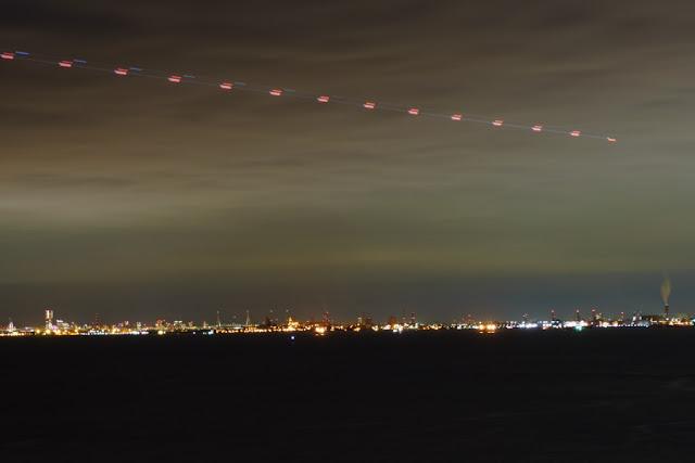 東京湾アクアライン「海ほたる」からの夜景