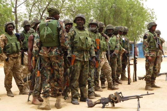 Army donates food items to flood victims in Delta