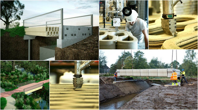 Dutch inaugurate the 3D Printed Reinforced Concrete Bridge Designed by Technical University of Eindhoven