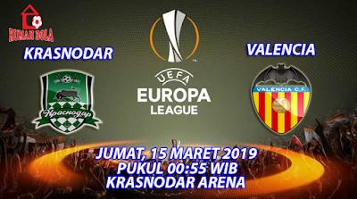 Prediksi Krasnodar vs Valencia 15 Maret 2019