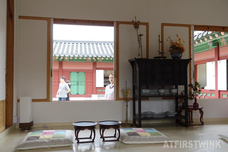 Saenggwabang in Gyeongbokgung palace cabinets pillows