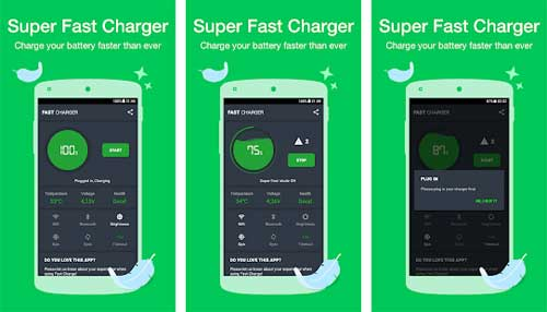 Automatically activate fast battery charging to boost speed on connection