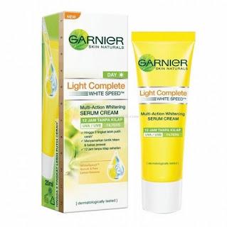 Garnier White Speed Multi-Action Whitening Serum Cream 12 Jam Tanpa Kilap