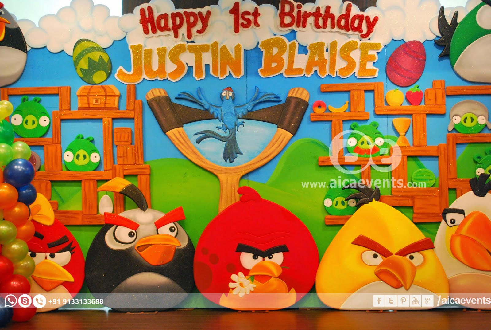 Aicaevents Angry Bird Theme Decors For Birthday Parties