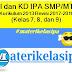 Daftar KI dan KD IPA SMP/MTs Kurikulum 2013 Revisi 2017-2018 Kelas 7, 8, dan 9