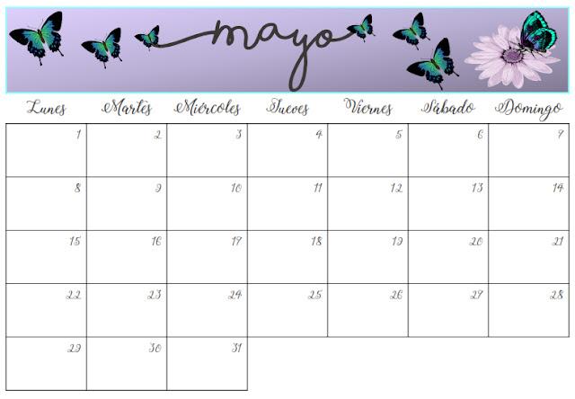 Imprimible mensual mayo 2017