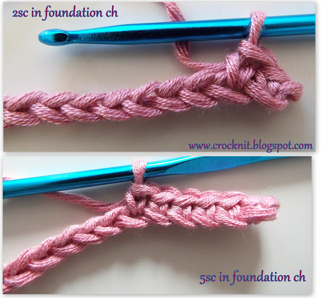 how to crochet, single crochet in foundation chain, free crochet patterns,