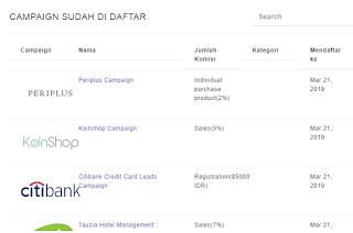 Penghasilan dari accesstrade indonesia.