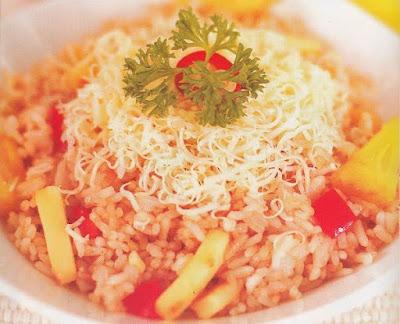 Resepmemasakmu - Resep Nasi Goreng Keju Nanas