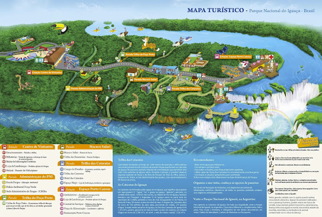 MAPA DO PARQUE CATARATAS DO IGUAÇU - imagem retirada de cataratasdoiguacu