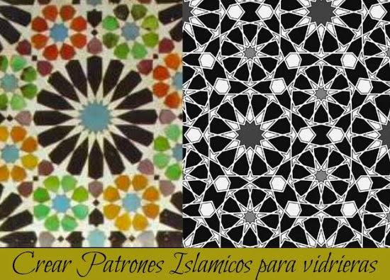 Taprats, patrones, islámicos, vidrieras, programa