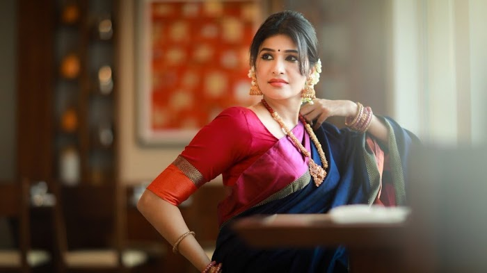 Anjena Kirti Hot and Sexy Photos|Stills in Saree