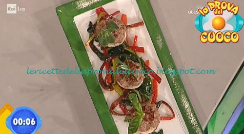 Mini buger con peperoni in agrodolce ricetta Fava da Prova del Cuoco