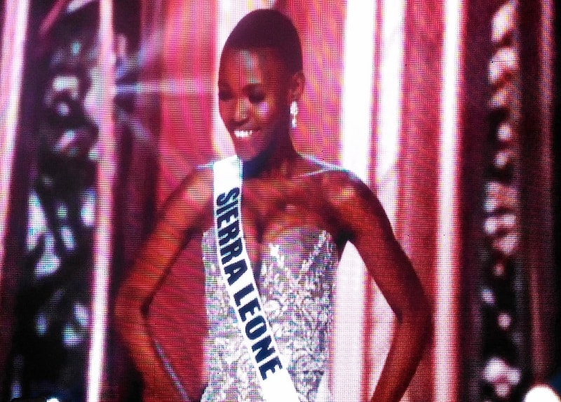 Miss Sierra Leone at 65th Miss Universe