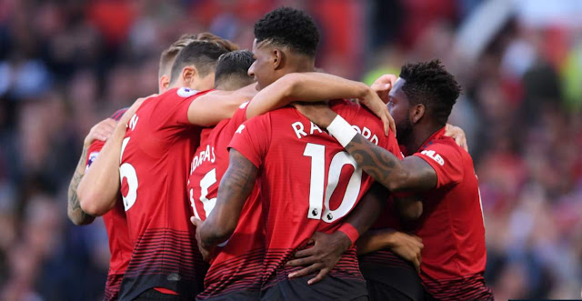 Manchester United 2 Leicester City 1: Pogba, Shaw secure win despite Vardy's late strike
