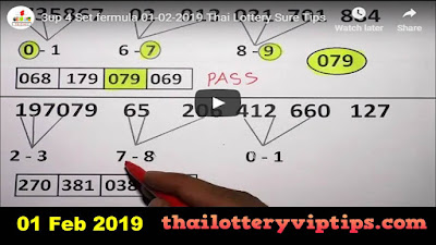 Thailand lottery Facebook 3up vip down total tips 01 February 2019