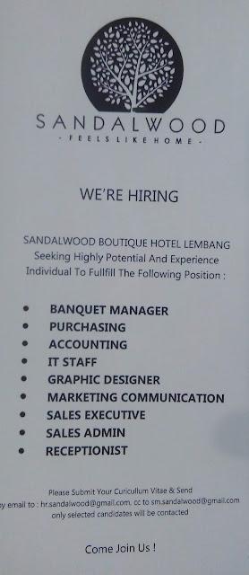 Loker SANDALWOOD Hotel di Lembang