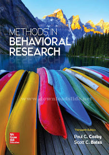 Methods in Behavioral Research 13th Edition by Cozby and Bates