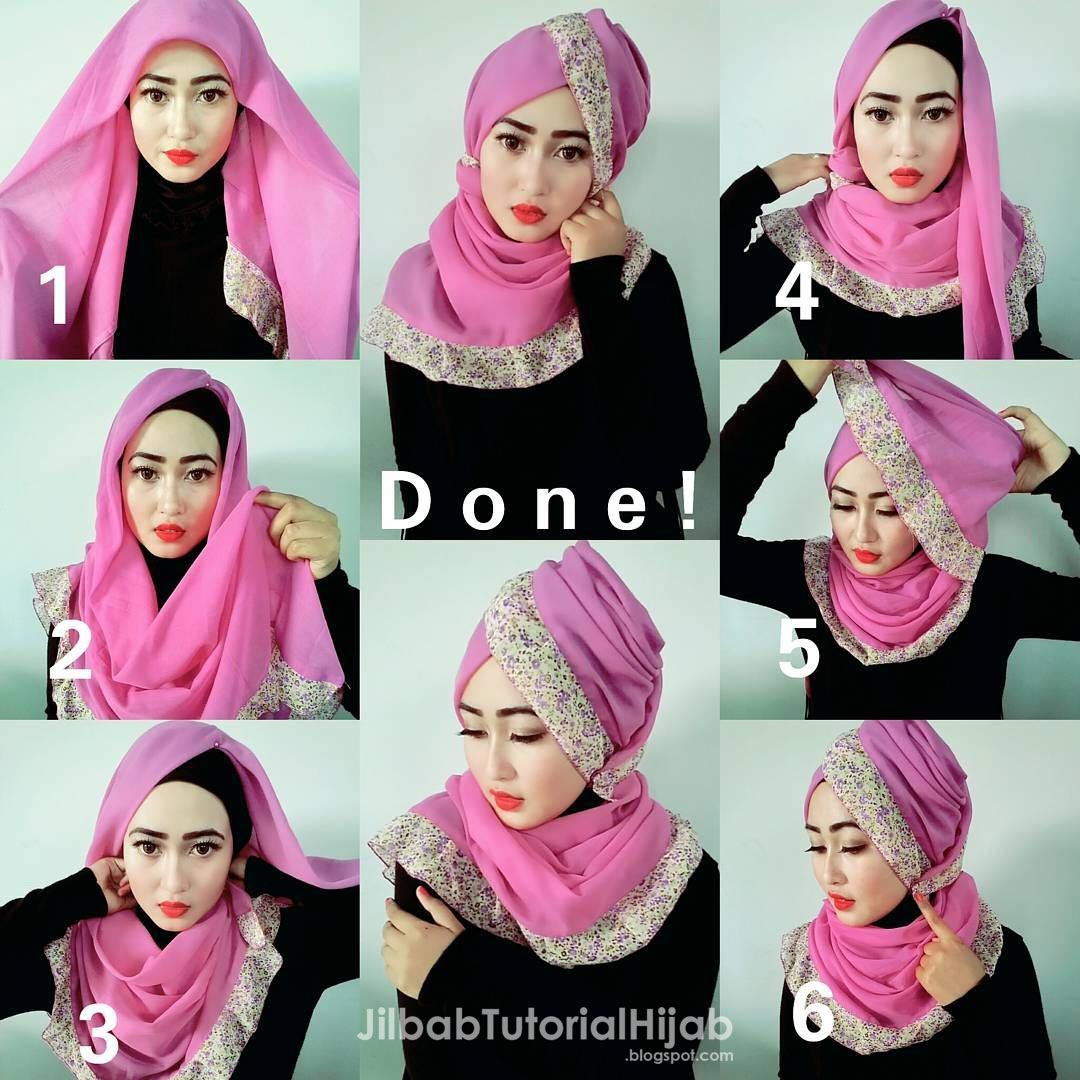 Tutorial Hijab Pesta Untuk Wajah Lebar