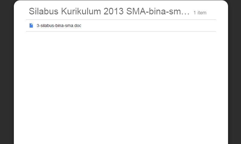 New Revisi Silabus Kurikulum 2013 SMA Bahasa Indonesia SMA LengkapTerbaru