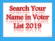 Find Your Name in Voter List 2019