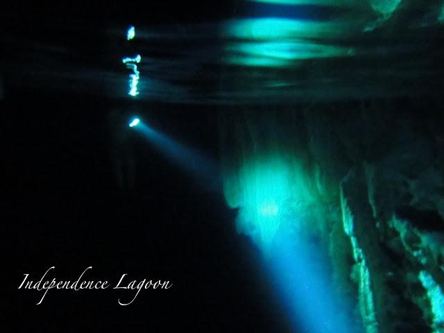 snorkeling at Cenotes Dos Ojos, Mexico