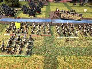 British infantry advance